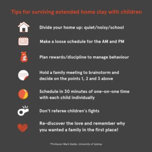 prof Dabbs tips for parents during Covid 19